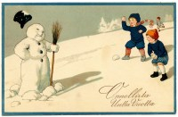 Vintage Clip Art Image - Adorable Snowman - The Graphics Fairy