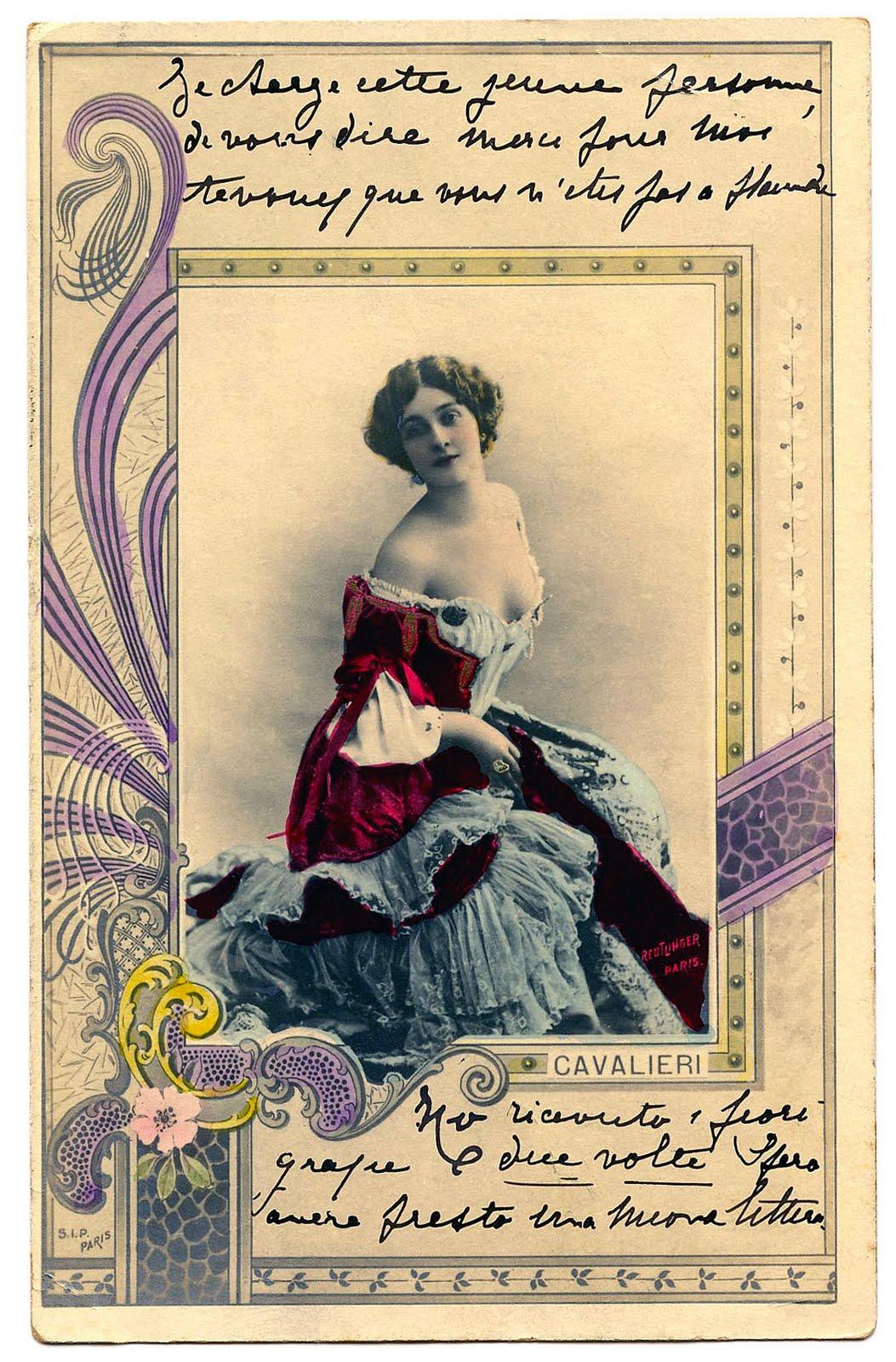 Italian Beauty Lina Cavalieri  A Giveaway  The Graphics