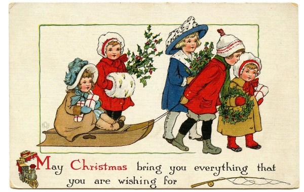 vintage christmas graphic