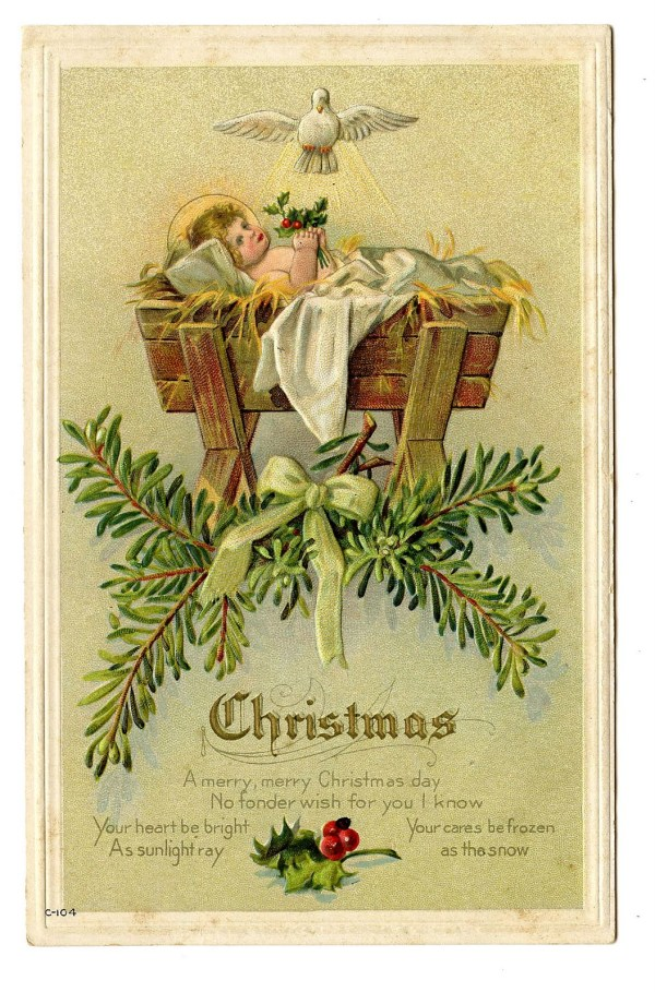 vintage christmas clip art - baby