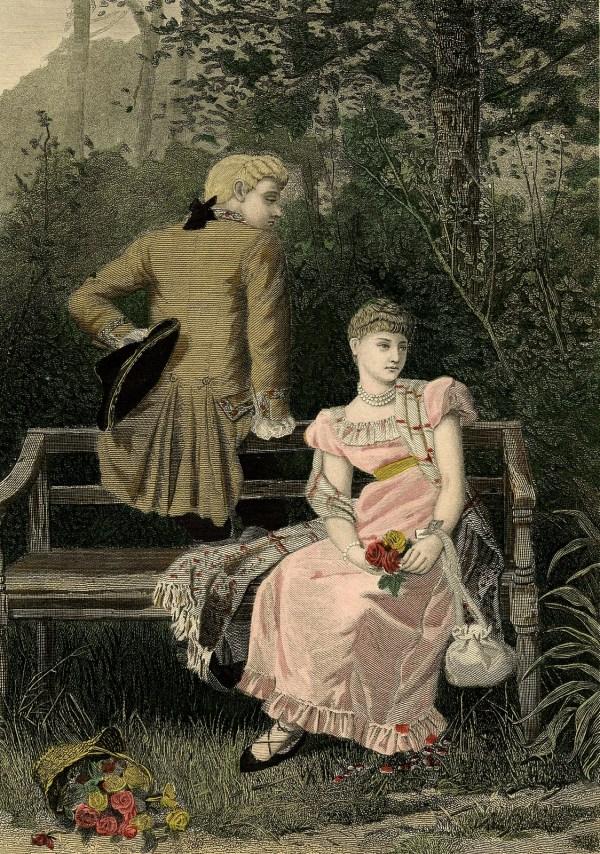 Thursday Request Day - Romantic Couple Fancy Teacup Art Nouveau Housewife Baking