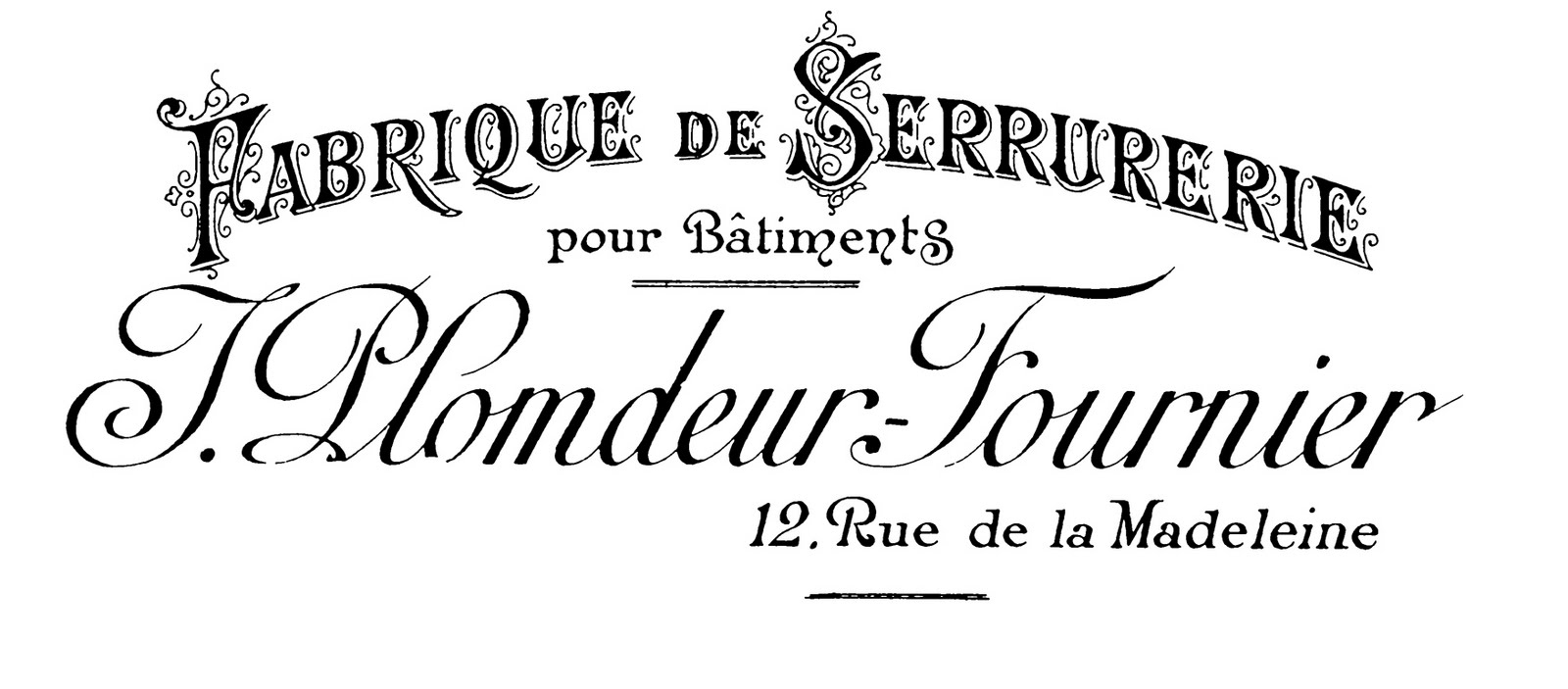 Antique Clip Art Gorgeous French Typography Printable