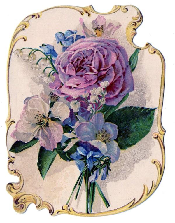 victorian clip art - stunning rose