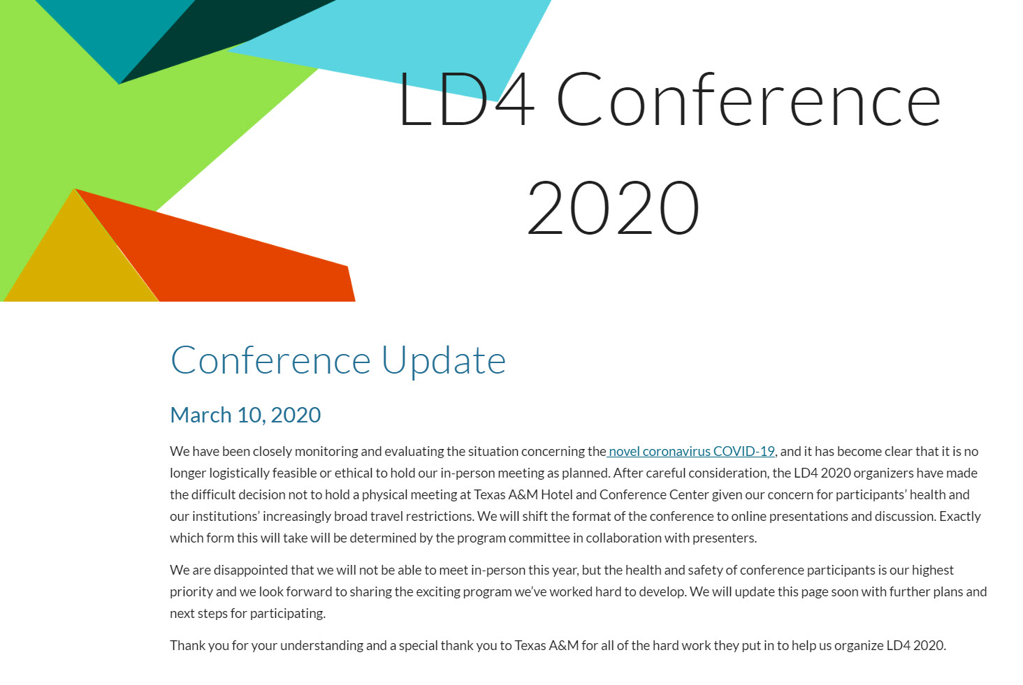 LD4 Conference 2020 (Linked Data in Libraries 2020)
