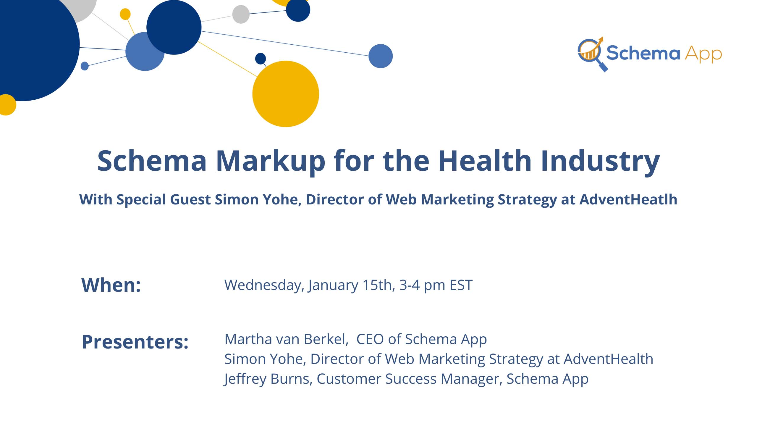Schema Markup for the Health Industry