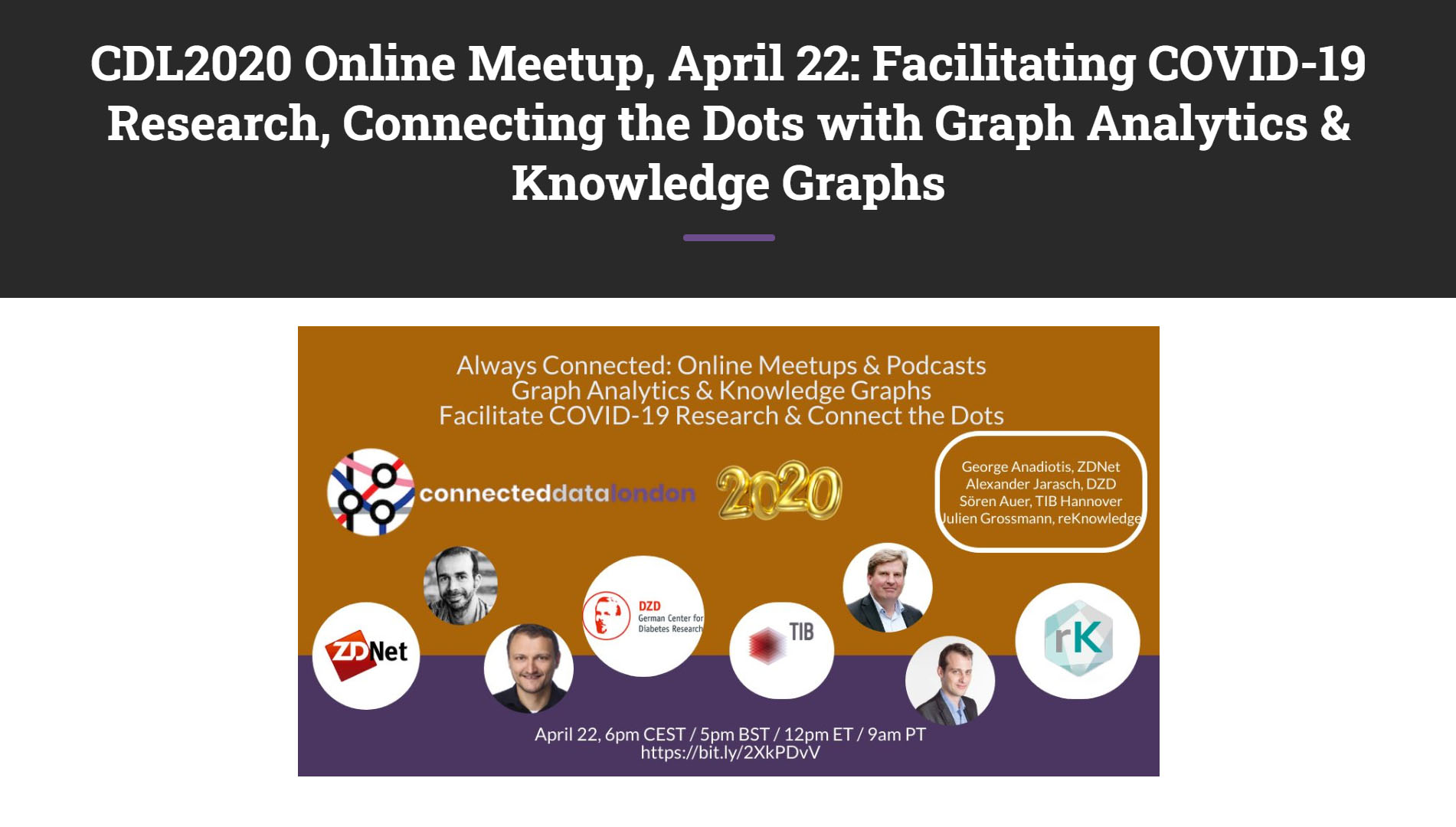 Facilitating COVID-19 Research Using Graph Analytics and Knowledge Graphs and Connecting the Dots with reKnowledge
