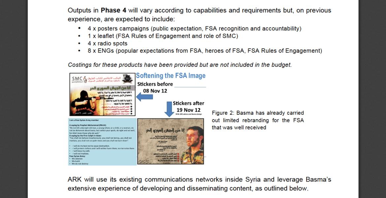 ARK contractor Syria soften FSA image