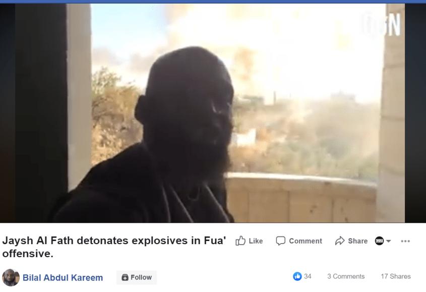 Bilal Abdul Kareem Jaish al-Fatah Facebook