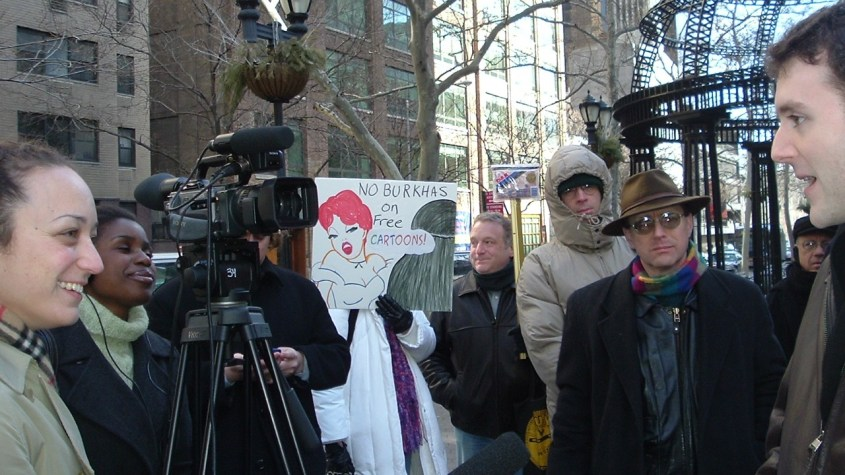 Michael Weiss Denmark Islamophobic rally NYC Pamela Geller