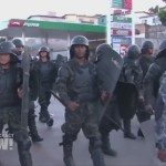 Honduran police crack down on protesters