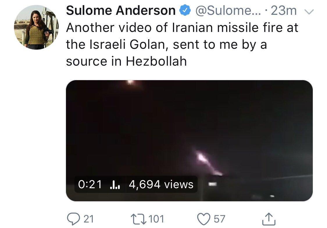 sulome anderson video iranian missile hezbollah
