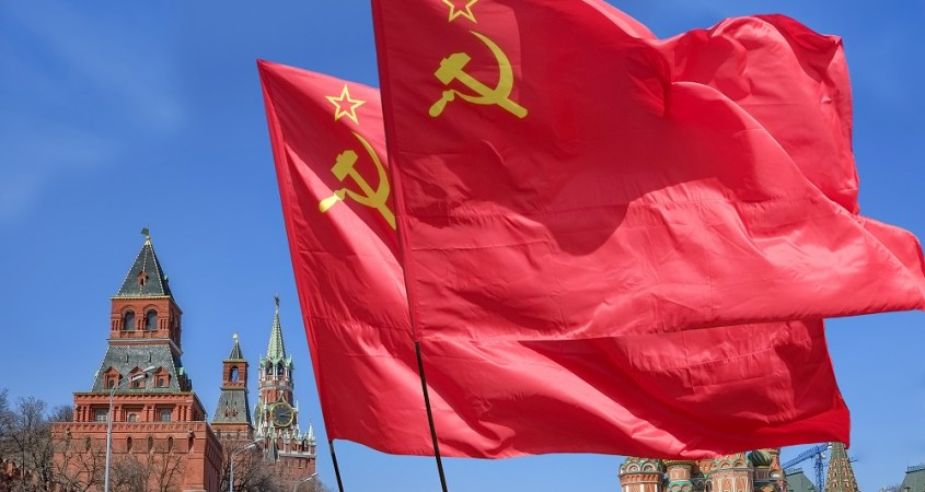 communist flags