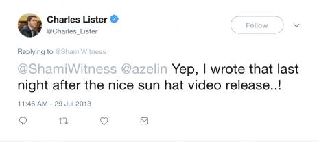 Charles Lister ShamiWitness hat