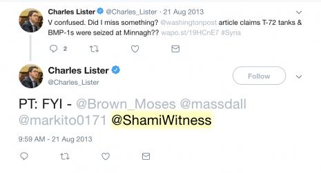 Charles Lister ShamiWitness tweet 1