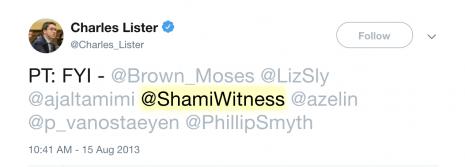 Charles Lister ShamiWitness tweet 2