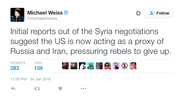 Michael Weiss Syria US proxy Russia Iran