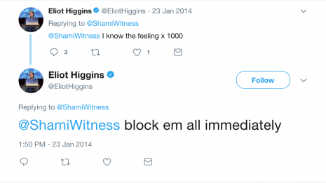 eliot higgins shamiwitness advice tweet