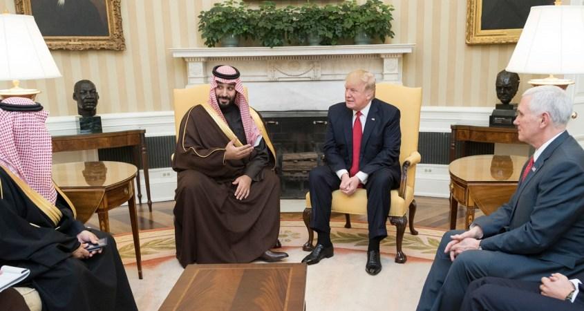 President Donald Trump meets with the Deputy Crown Prince of Saudi Arabia