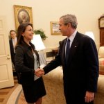 Maria Corina Machado George Bush