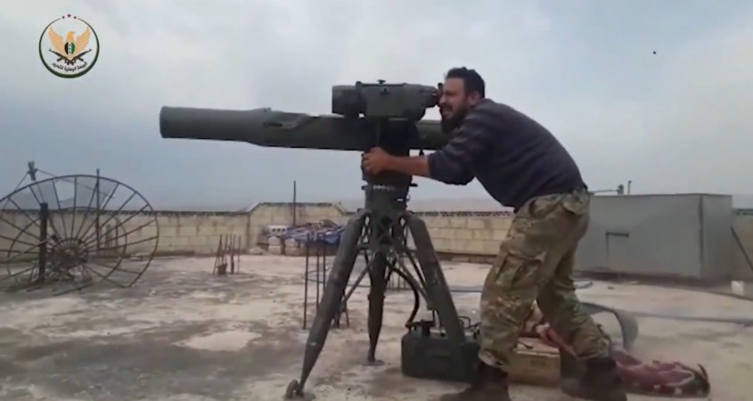Turkish backed rebels TOW anti-tank missiles Syria