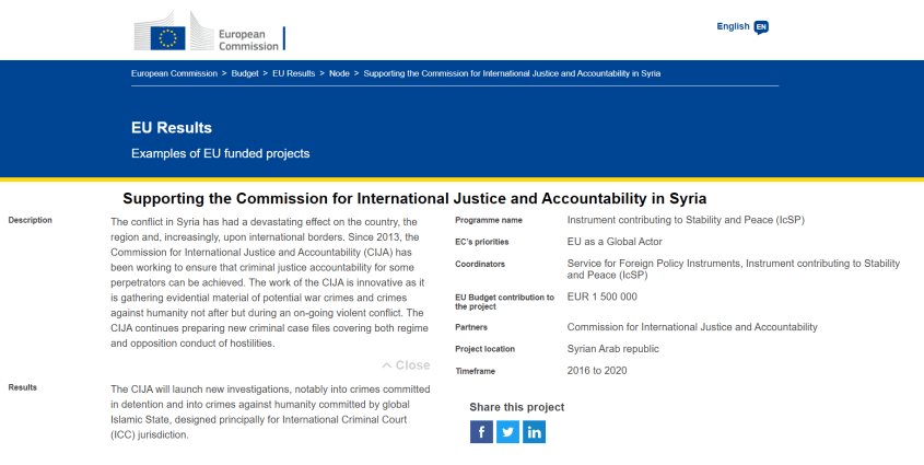 European Commission CIJA