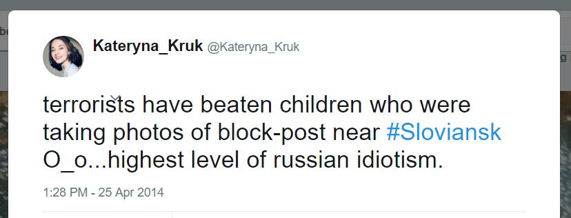 Kateryna Kruk Twitter Russian idiotism