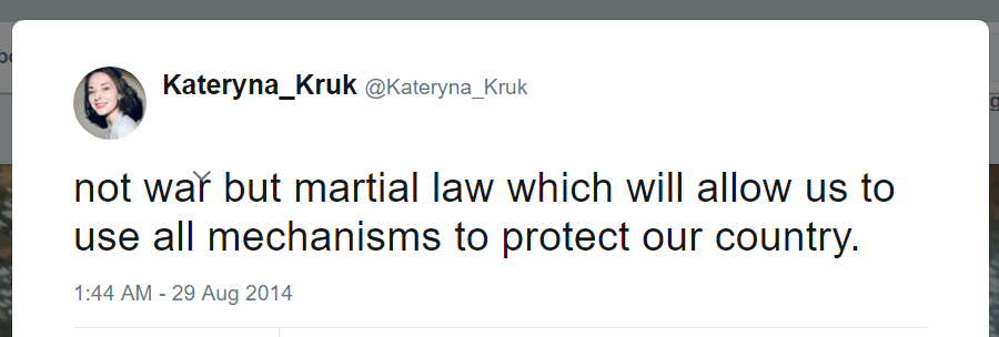 Kateryna Kruk Twitter martial law protect