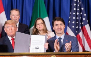 Trump Trudeau Chrystia Freeland Canada