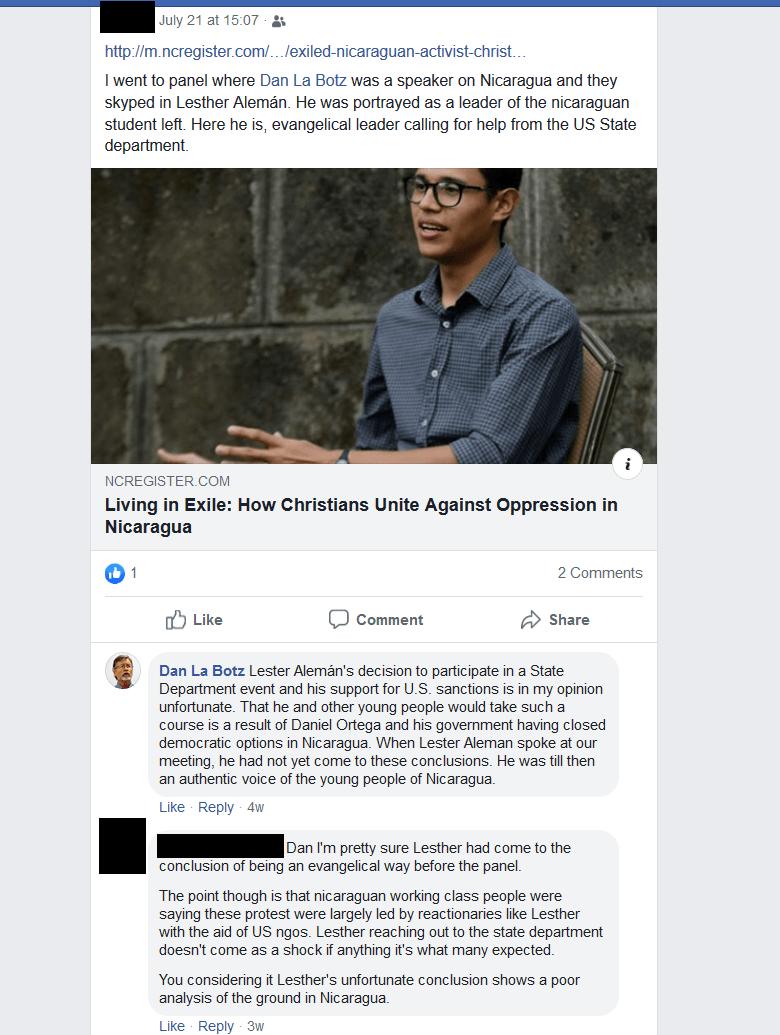 dan la botz lesther aleman facebook