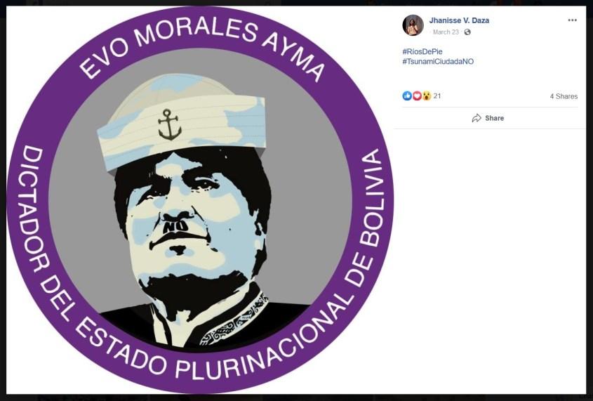 Jhanissa Vaca Daza Evo Morales dictator