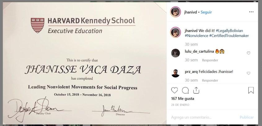 Jhanissa Vaca Daza Harvard Kennedy School