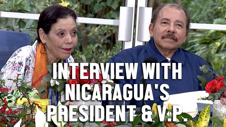 The Grayzone Nicaragua interview Ortega Murillo