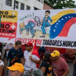 Venezuela no more Trump protest Maduro kicking