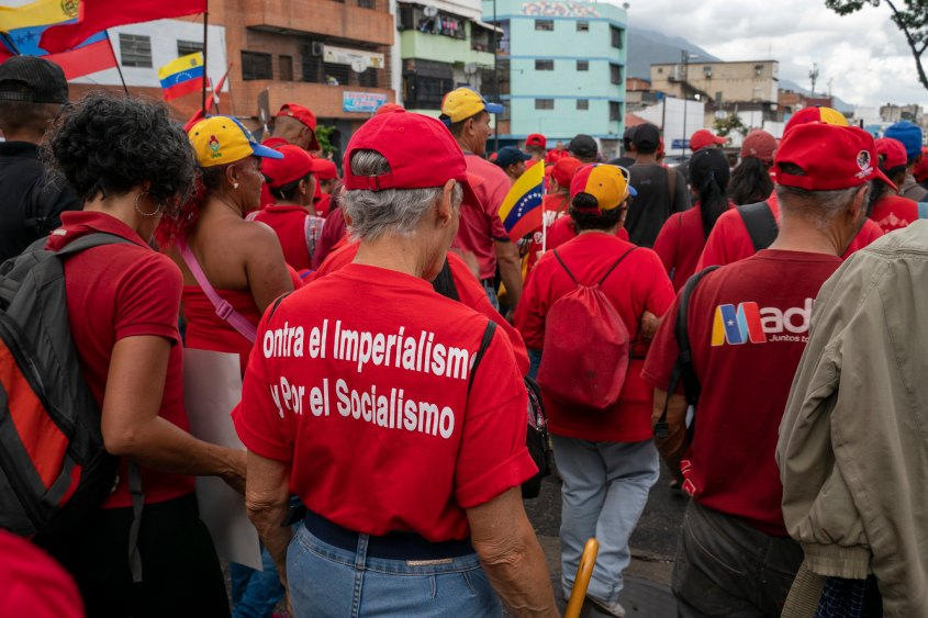 Venezuela no more Trump protest imperialism socialism