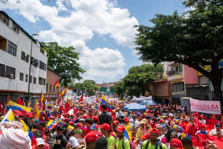 Venezuela no more Trump protest march