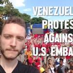 Venezuelans protest US embargo