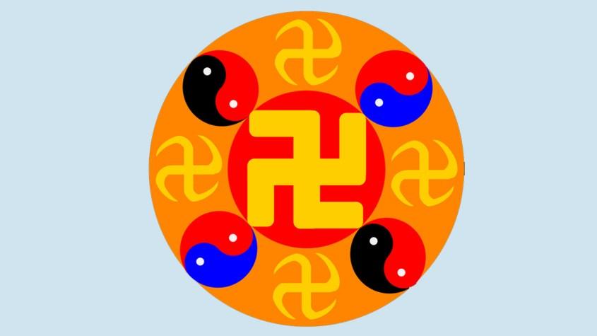 Falun Gong symbol swastika