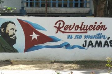 Cuba graffiti Fidel Castro no mentir
