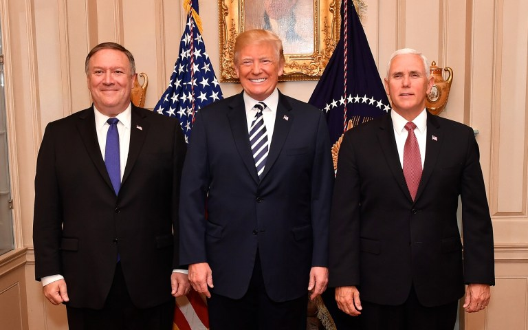 Trump Pence Pompeo White House