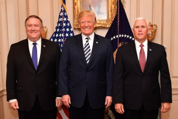 Trump Pence Pompeo White House