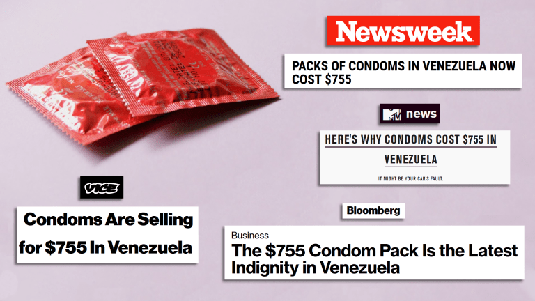 Venezuela condoms 755 dollars false media propaganda