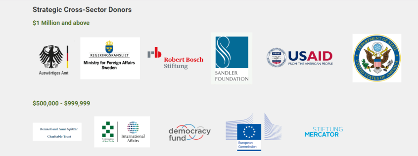 Alliance for Security Democracy German Marshall Fund donors governments