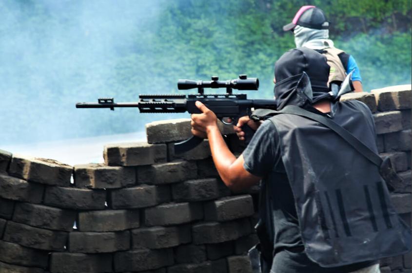 Carl David Goette-Luciak Nicaragua Masaya tranque gun