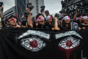 Chile protests eyes injuries