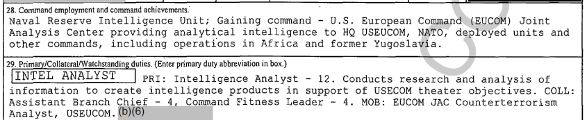 Pete Buttigieg naval intelligence unit miltiary record FOIA