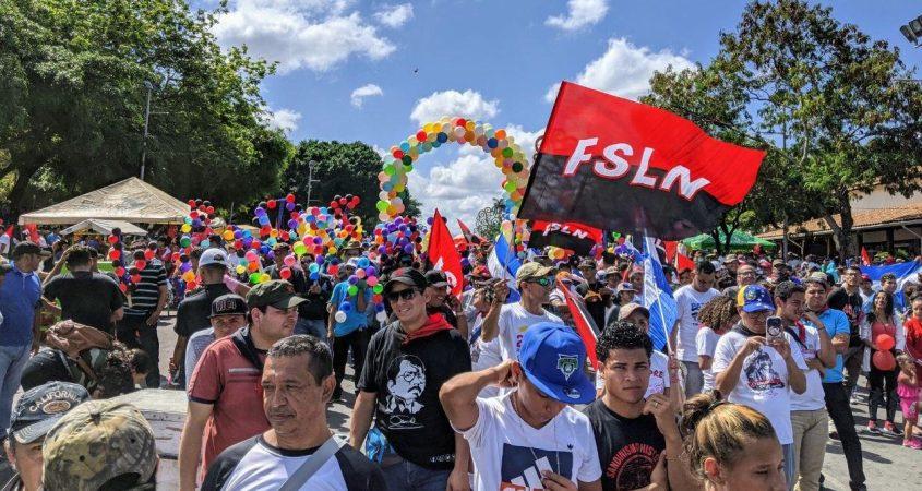 Nicaragua FSLN Sandinista rally