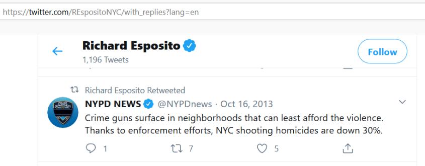 richard esposito nypd news tweet