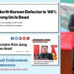 north korea fake news kim dead NED