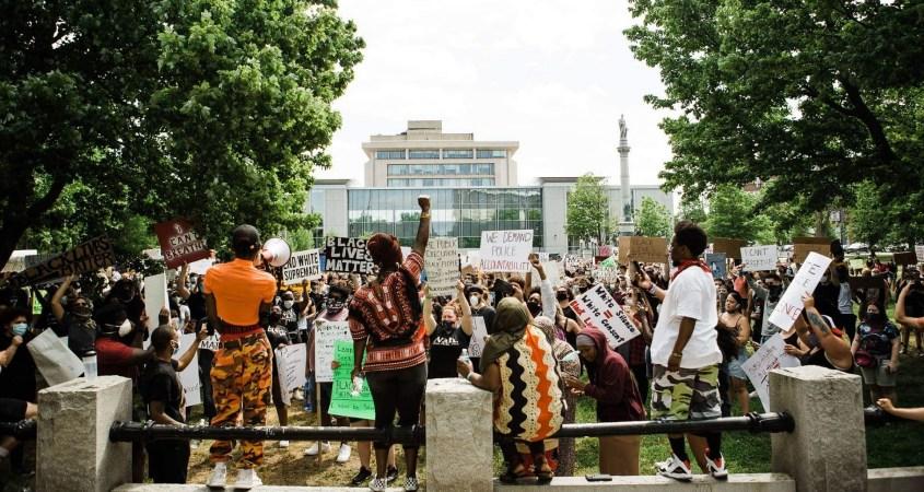 George Floyd Black Lives Matter protest