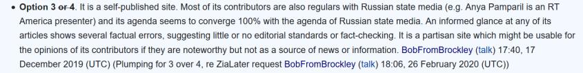 Wikipedia BobFromBrockley Grayzone Russia